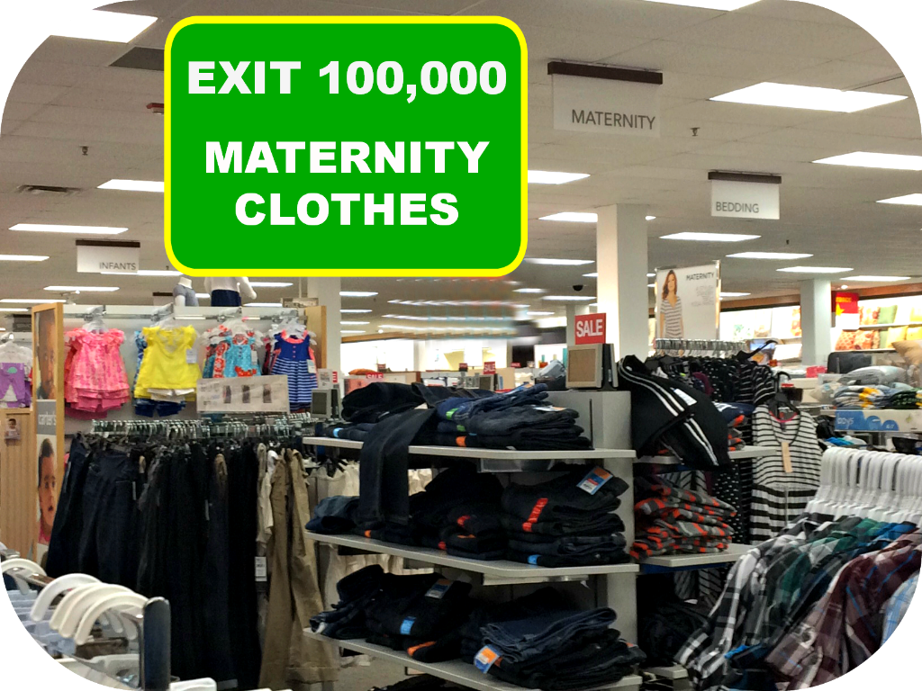 Department stores with maternity clothes